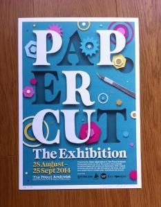 Paper Cut Ex Poster